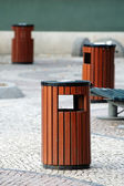 Litter bins — Stock Photo