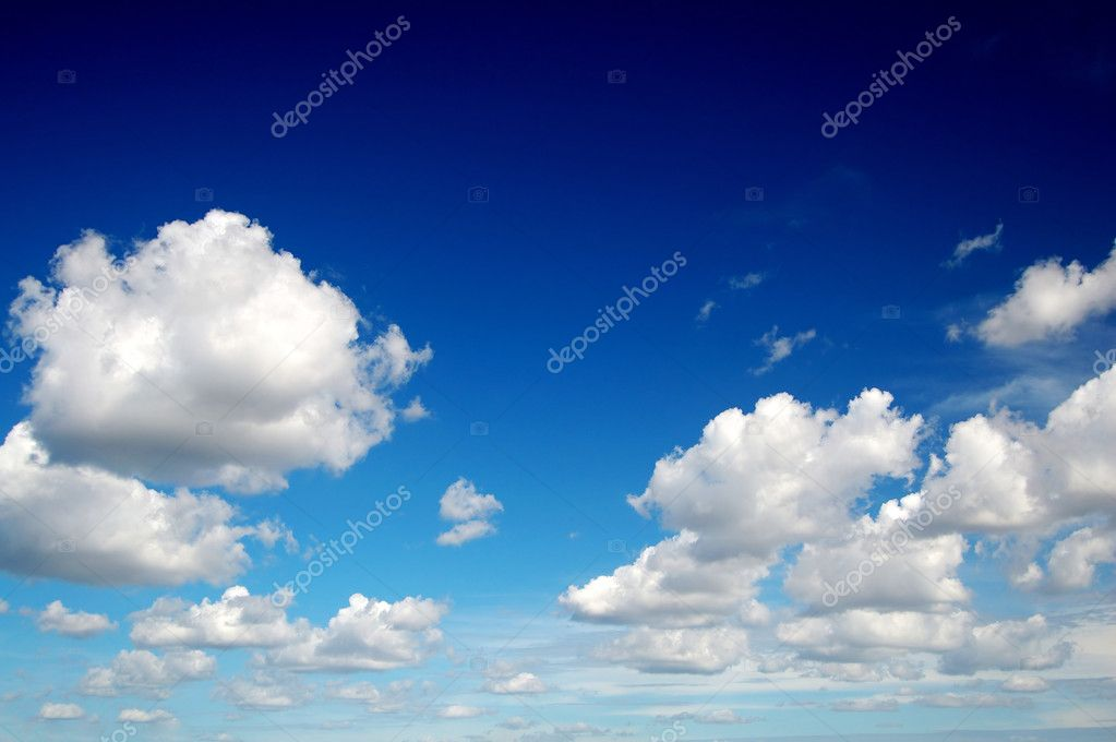 Blue sky with cotton like clouds — Stock Photo #2857161