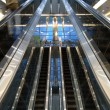 Escalators in airport — Stock Photo