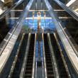 Escalators in airport — Stock fotografie