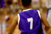 Basketball player in motion — Stock Photo