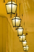 Line of lanterns — Stock Photo