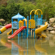 Stock Photo: Colorful water playground