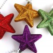 Colorful christmas stars — Photo