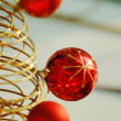 Red christmas bulbs — Stock Photo #2883397