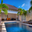 Stock Photo: Swimming in villa