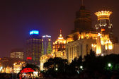 Night view of the Shanghai Bund — Stock Photo