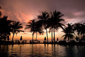 Evening in tropical hotel — Stock Photo