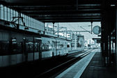 Train at station — Stock Photo