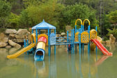 Colorful water playground — Stock Photo