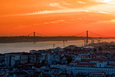 Landscape of city Lisbon — Stock Photo