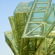 Abstract of green glass — Stock Photo