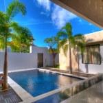 Swimming in villa — Stock Photo
