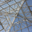 Contemporary roof structure with glass — Stock Photo
