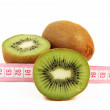 Stock Photo: Kiwi fruit isolated on white background