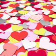 Many hearts — Stock Photo