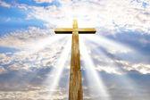 Cross against the sky — Stock Photo