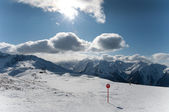 Beatifull slope in the Alps — Stock Photo