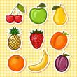 Stock Vector: Set fruit