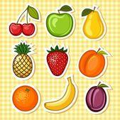 Set fruit — Stock Vector