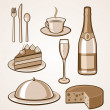 Royalty-Free Stock Immagine Vettoriale: Food Icon Set