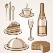 Royalty-Free Stock Imagen vectorial: Food Icon Set