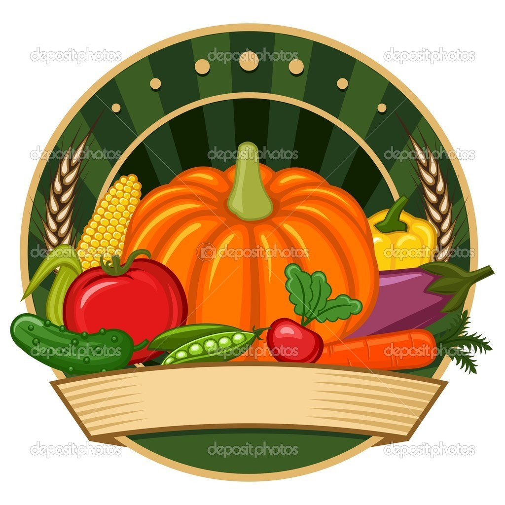 Logo with vegetable theme. — Stock Vector #2804356