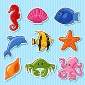 Deniz fauna — Stok Vektör