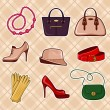 Fashion Accessories — Image vectorielle