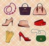 Acessórios de moda — Vetor de Stock