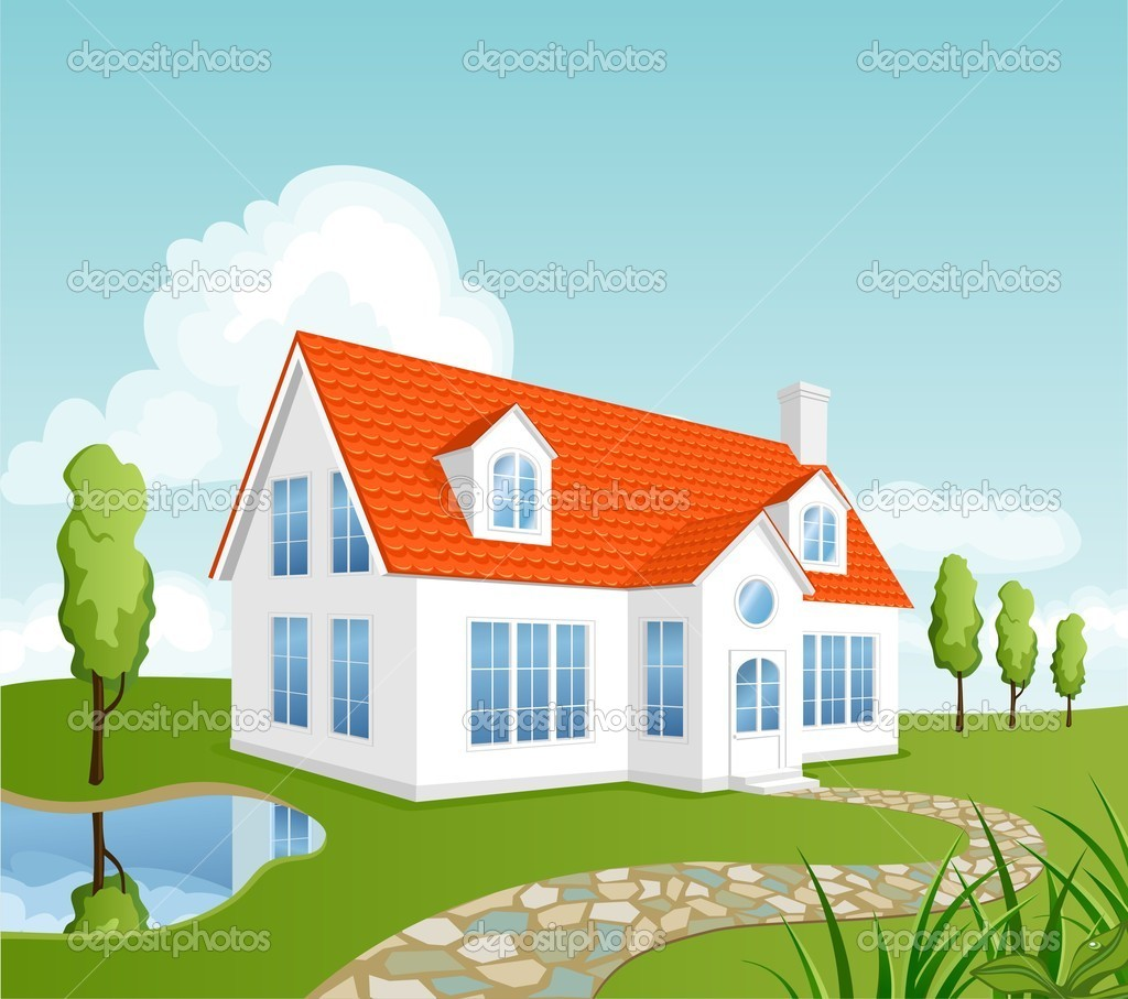 Vector house stock vector nata danilenko 3093403 for Houses images pictures