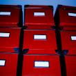 Red Boxes - Stock Photo
