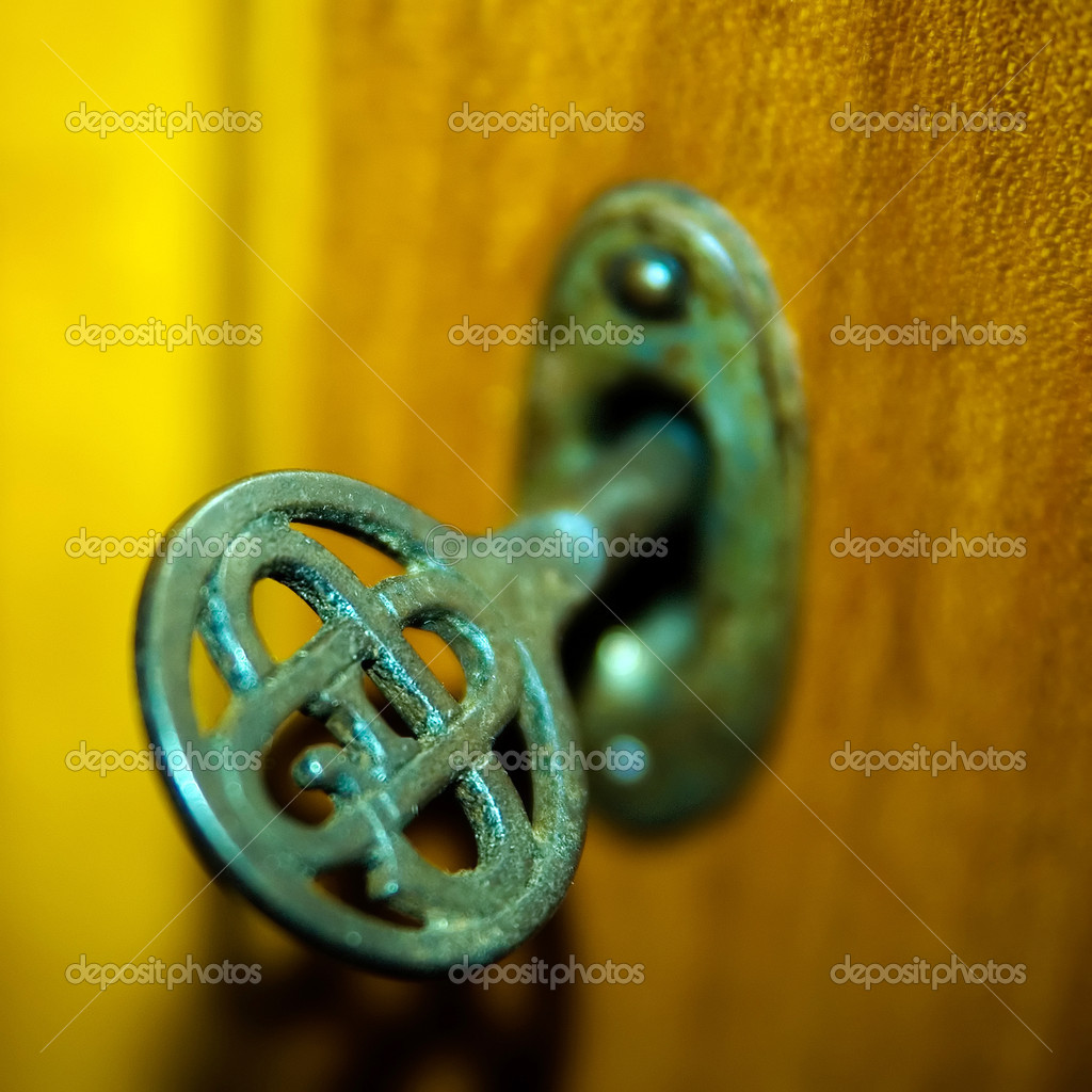 Detail of an old and rusty key. — Stock Photo #3065346