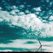 Dolende windmolen — Stockfoto