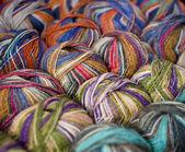 多彩多姿的羊毛 — 图库照片