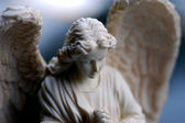 Bisque statue of angel — Stock Photo