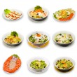 salade-collectie — Stockfoto