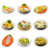Salad collection — 图库照片