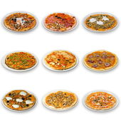 Pizza samling — Stockfoto