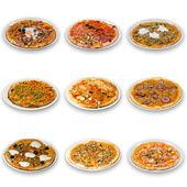 Pizza koleksiyonu — Stok fotoğraf
