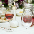 Red wine at restaurant — Foto Stock