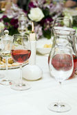 Red wine at restaurant — Stock Photo