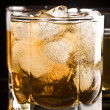 Stock Photo: Whiskey in glass