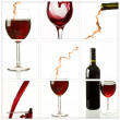 Foto Stock: Wine collage