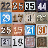 Street numbers — Stock Photo