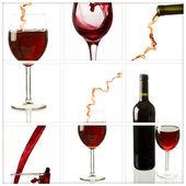 Collage vino — Foto de Stock