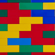 Colourful toy brick wall — Stock Photo