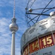 Berlin Alexanderplatz with Weltzeituhr — Stock Photo