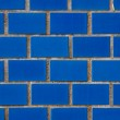 Detail of a blue wall — Stock Photo