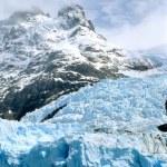 Glacier Spegazzini and a mountain top — Stock Photo